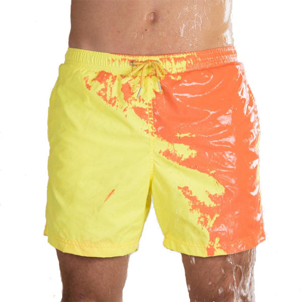 Summer Men Temperature-Sensitive Color-Changing Beach Pants Swim Trunks swimming trunks boys swimwear 2019