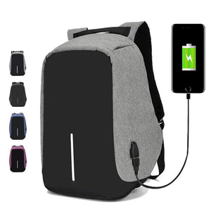 15.6 inch Laptop Backpack USB Charging Anti Theft Backpack Men Travel Backpack Waterproof School Bag Male