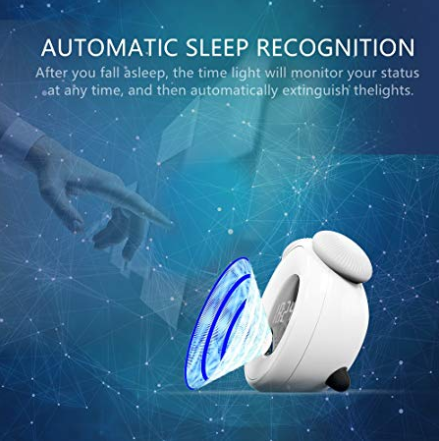 Alarm Clock Night Light, GAKOV GAYD-208 Intelligent Clock LED Night Light Bedside Lamp & Creative Fantasy Romantic Sleep Lights Wake Up Lights For You