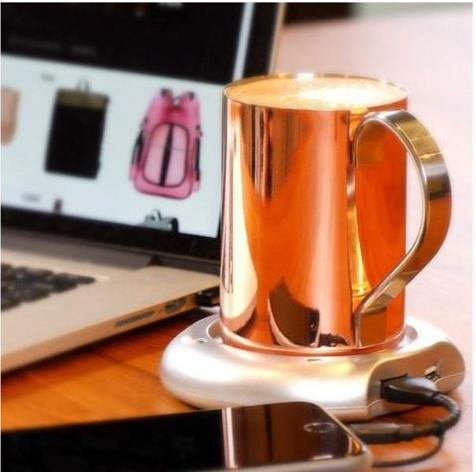 【Buy one get one free】USB Tea Coffee Cup Mug Warmer With 4 Port USB Hub