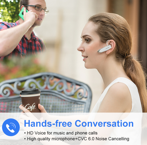 Hands-free Wireless Bluetooth Earphone with Microphone Earphone Case for Phone PC