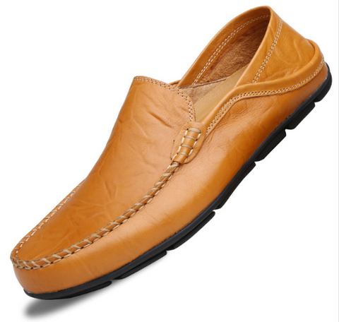 Leather Men's Casual Lazy Shoes