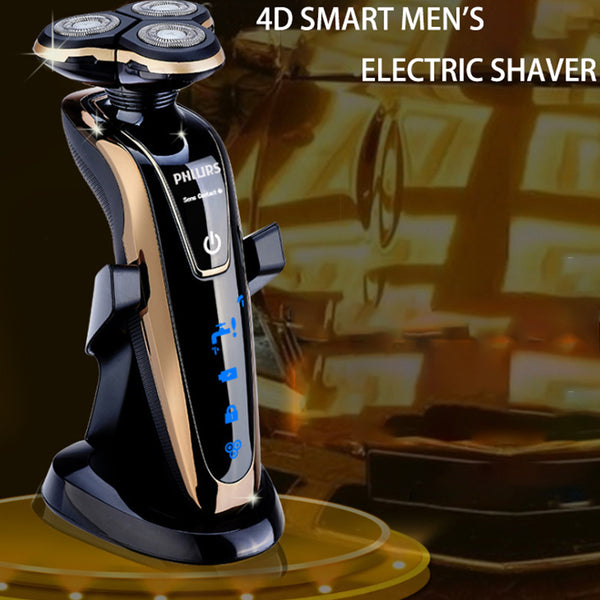 Golden RAYCO1250 Rechargeable Shaver Washable 3 Heads Razor