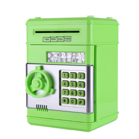 Electronic Piggy Bank Safe Money Box for Children Digital Coins Cash Saving Safe Deposit ATM Machine