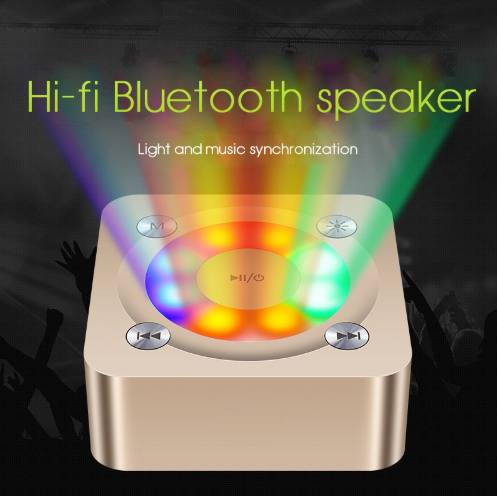 A9 Stereo Wireless Bluetooth Speaker LED light Portable Speakers