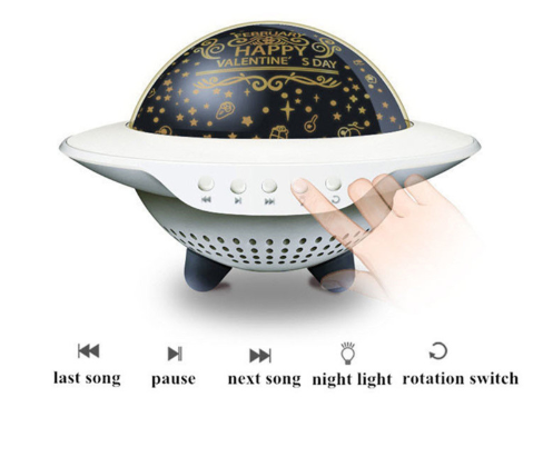 UFO Bluetooth Music Starry Star Projection Night Light Romantic Rotate
