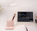 USB Rechargeable LED Desk Lamp Touch Dimming Adjustment Table Lamp