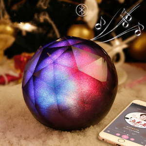 Portable Bluetooth speaker Portable Wireless Loudspeaker LED Light Crystal Ball Bluetooth Speaker Night Light USB MP3 Player