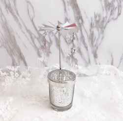 Best Gift! ! Snowflake Cup Rotating Night Light