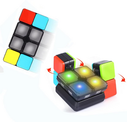 Music Game Cube Led Light Magic Cube Intelligent Educational Puzzle Cube Sticker Toys