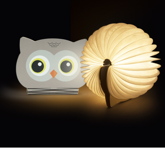 Cartoon Design Colorful Folding Book Light Creative Rechargeable USB Port Shape Changeable Portable Table Bedside Lamp
