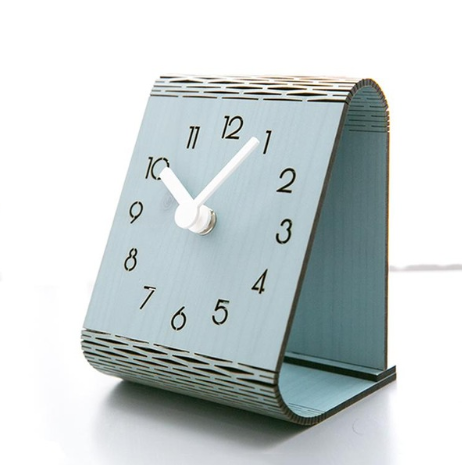 Modern minimalist desktop clock, desktop decoration desk clock, bedroom silent home wall clock