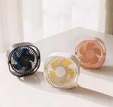 Mini USB Desk Fan 3 Speeds Lower Noise 360 Degree Up and Down Rotatable Cute Home Office Desktop Decor Portable FAN Hot