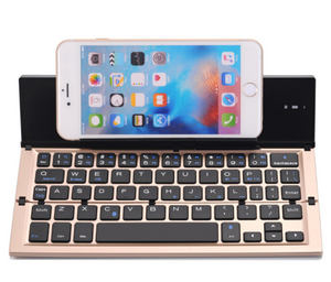 Three Fold Metal Wireless Bluetooth Keyboard Mobile Tablet Three System Universal Keyboard