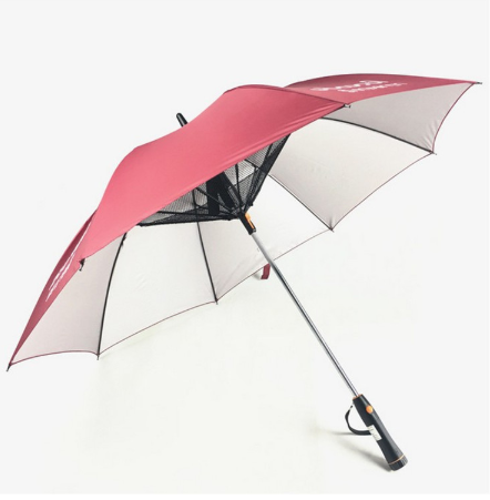 Summer Strong Long Handle Umbrella with Electric Fan Summer Cooling Down Umbrella Creative Umbrella New Design Sun-proof