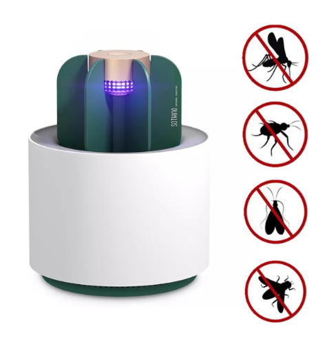 UV Light Eletric USB Anti-mosquito Lamp Cactus Shape Mosquito Insect Killer