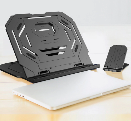 Notebook Radiator Multi-angle Adjustment 360-degree Turntable Laptop Bracket with Mobile Phone Holder