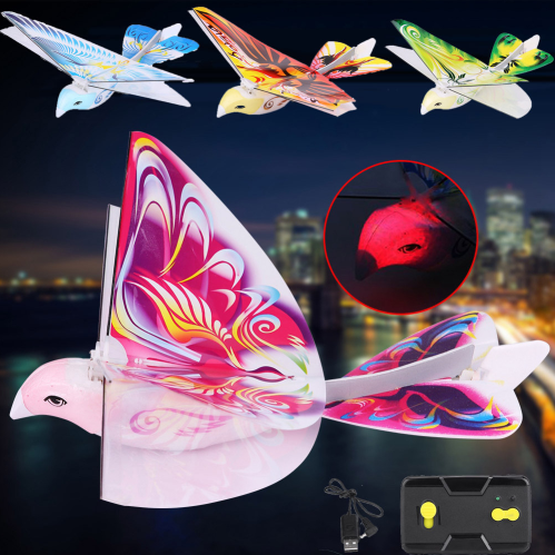 RC Bird RC Airplane 2.4 GHz Remote Control E-Bird Flying Birds Electronic Mini RC Toys