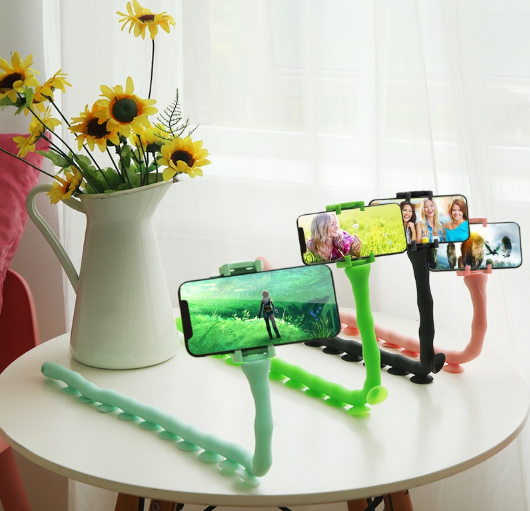 Cute Caterpillar Lazy Bracket Mobile Phone Bracket Worm Live Bracket Suction Cup Support Wall Desktop Pillar Holder