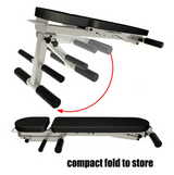Adjustable Fold 6 Position Dumbbell Bench Ab Bench Multifunction Home Gym Fitness Bench