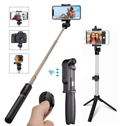 4 in 1 Wireless Bluetooth Selfie Stick for ios/Android Foldable Handheld Monopod Shutter Remote Extendable
