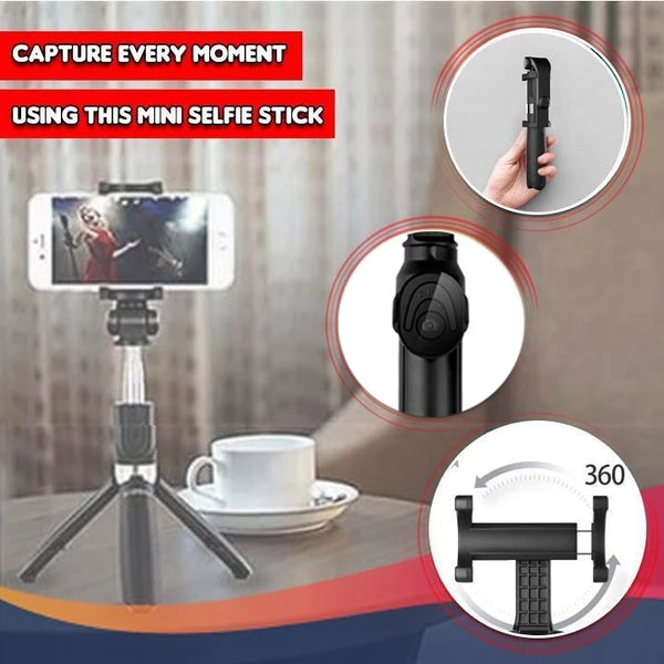 4 in 1 Wireless Bluetooth Selfie Stick for ios/Android Foldable Handheld Remote