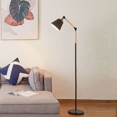 Nordic Gold Simple Floor Lamp Marble Base Standing Lamp Adjustable Length Floor Light