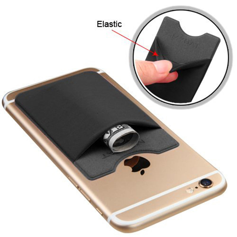 1Pcs For  Flexible Pouch Credit Adhesive Card Buddy Sets Holder 3M Sticker Mobile Phone Back Cover Free Ship