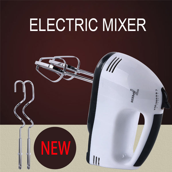 7 Speeds Electric Egg Beater Hand Held Roasting Appliances Egg Mixer Kitchen Baking Tools EU Plug White