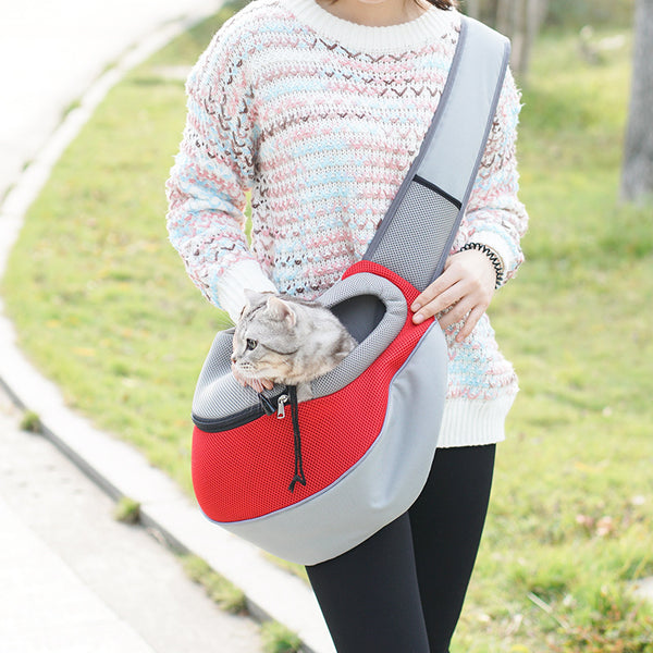 One-shoulder pet bag adjustable pet backpack Messenger bag out carrying bag cat bag