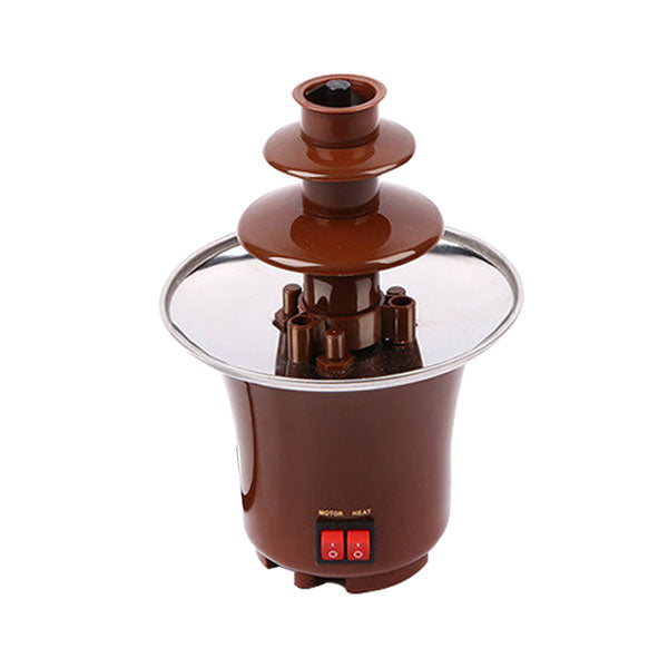 Chocolate Fondue Electric Fountain - for Melted Chocolate, Candy, Butter, Cheese, Caramel Dip
