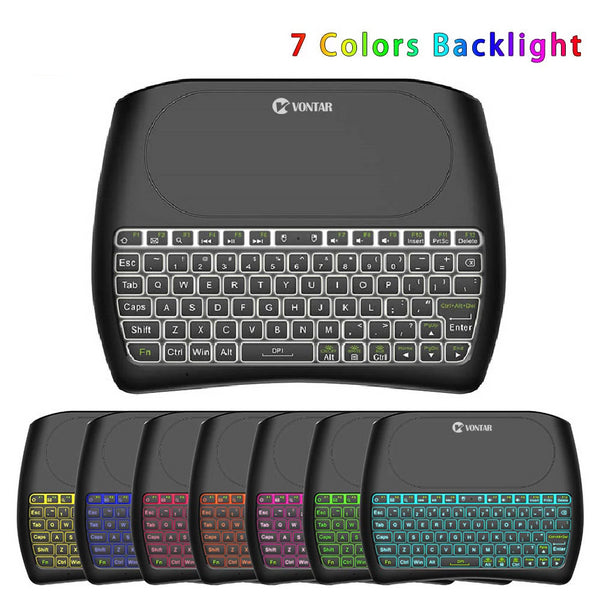 Backlight D8 Pro Plus i8 English Russian 2.4GHz Wireless Mini Keyboard Air Mouse Touchpad Controller for Android TV BOX