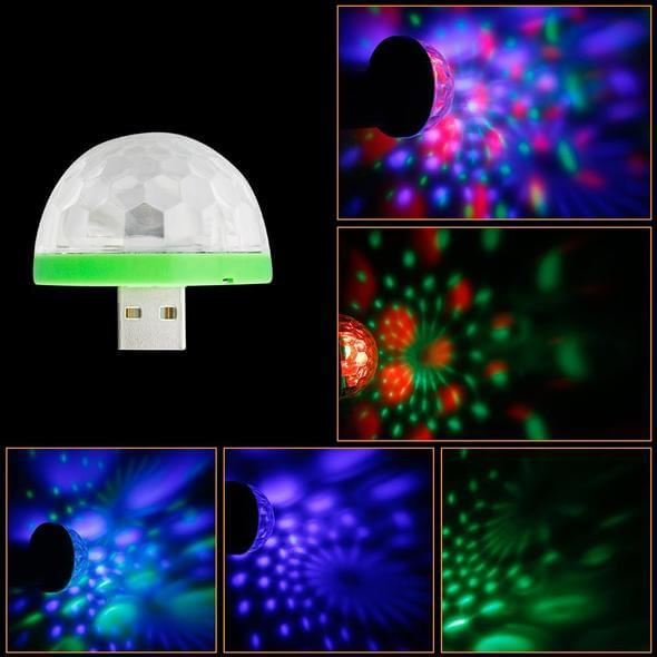 ( Buy one get two free) USB Mini Mushroom Colorful Light for Party、Car