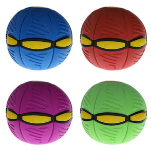Flying UFO Flat Throw Disc Ball With LED Light Toy Kid Outdoor Garden Beach Game Light-Up Toy