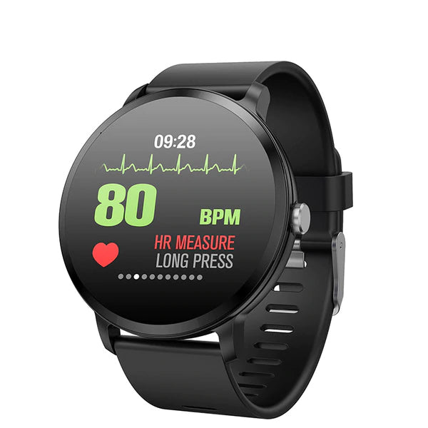【V11 سوار ذكي】Goral V11 Weather Music Control HR Blood Pressure Oxygen Training Brightness Smart Watch Bracelet +55% OFF