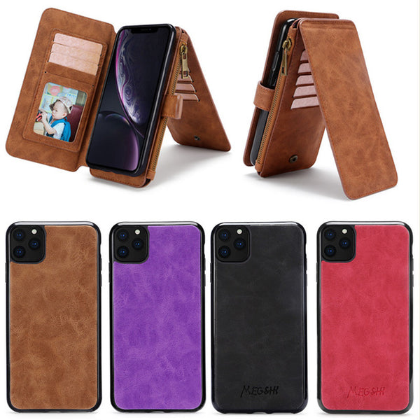 Multi Functional money purse with detachable phone back cover super phone organizer