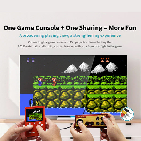 FC280 Nostalgic 400-in-1 Handheld Game Console - Support Handle / TV / Projector / Headphones