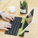 Mini Protable Folding Keyboard Ultra-thin Wireless Keyboard Universal Bluetooth Keyboard for Windows / IOS / Android Tablet / Smartphone