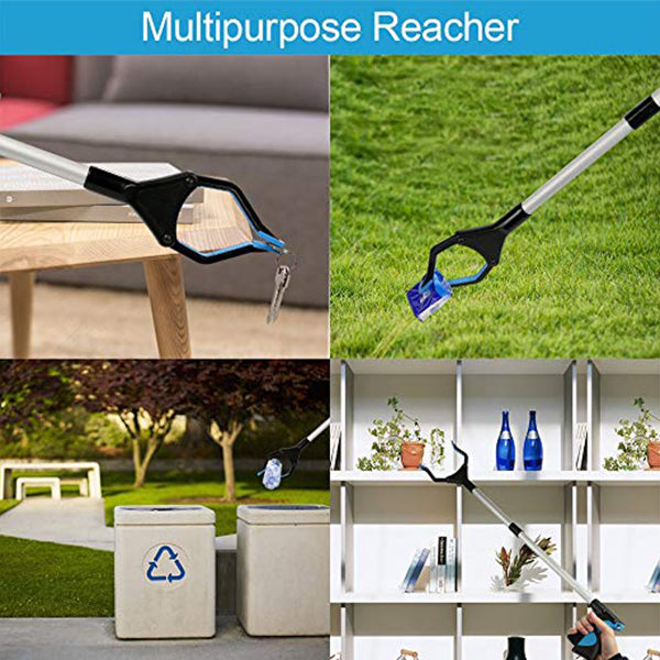 Foldable Grabber Reacher - Reaching Assist Tool for Trash Pick Up Garden Litter