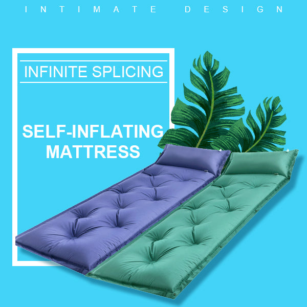 【HOT SALE!】Outdoor Automatic Inflatable Cushion with Pillow Camping Moisture Mat