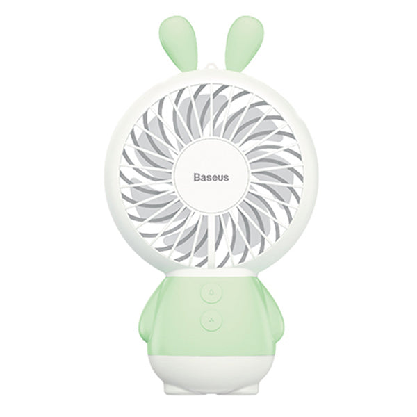 Baseus LED USB Fan 2-Speed Adjustable Portable Mini Fan Hand Fans 800mAh Rechargeable Ultra-quiet Micro USB Desk Air Cooling Fan