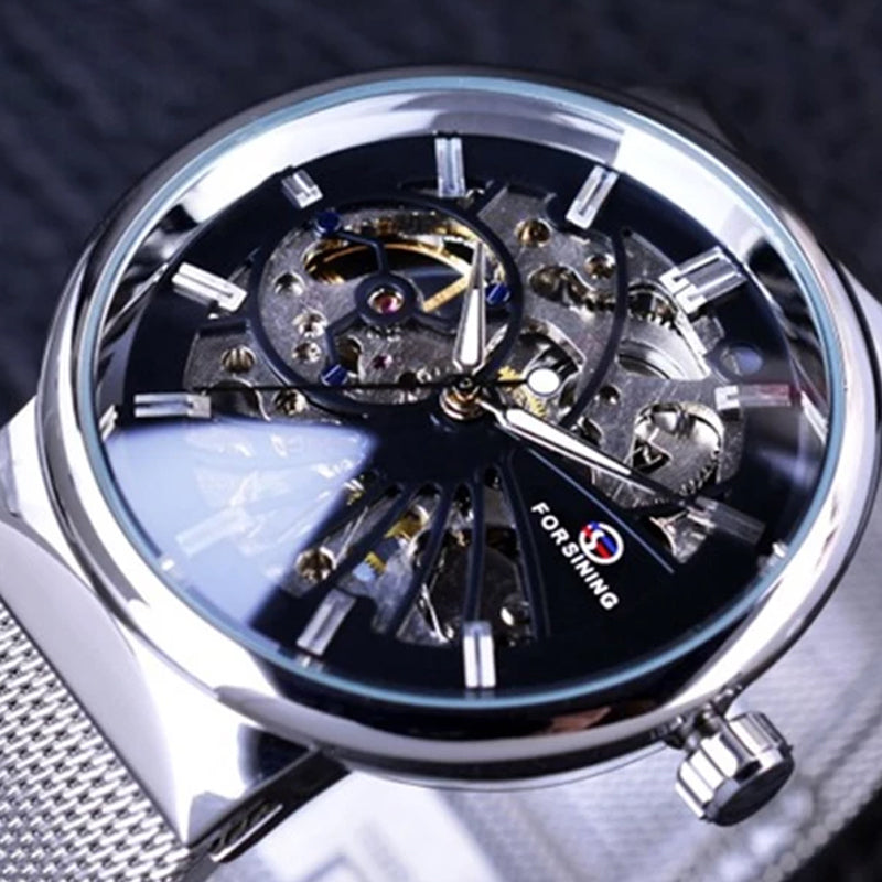 Forsining Fashion Luxury Thin Case Design Waterproof Mens Samll Dial Watches Top Brand Luxury Mechanical Skeleton Watches