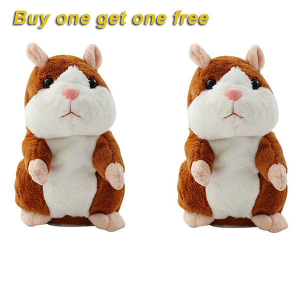 (Buy one get one free)kids Companion Talking Hamster Mouse Pet Toy Speak Talking Sound Record Hamster Educational Plush Christmas Gift Toys for Child