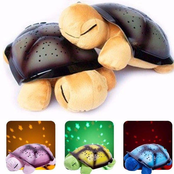 Coquimbo Sleeping Turtle Nursery Night Light With Baby Music USB Powered Plush Nightlight Projector Star Bedroom Night Lamp