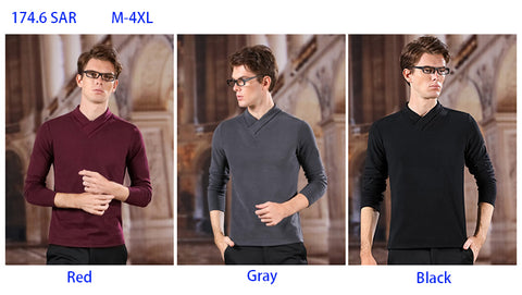 Trendy V Collar T-shirt for Men - Comfortable M-4XL