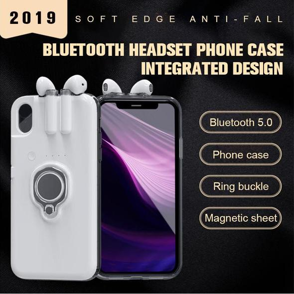 【Bluetooth headset For Free 】Bluetooth headset phone case integrated design