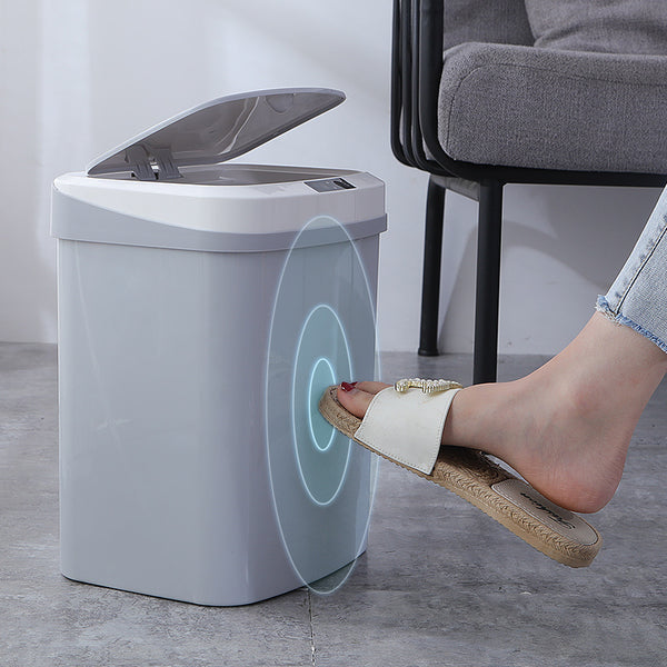 15L trash can home smart trash can automatic induction electric trash can