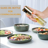Glass olive oil sprayer oil spray empty bottle vinegar bottle oil dispenser cooking tool salad barbecue kitchen baking