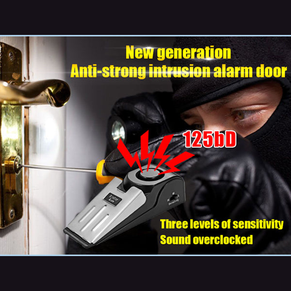 Door Stop Alarm 125db Door Block Vibration Alarm for Traveling Security Door Alarm Stopper Doorstop for Home Security