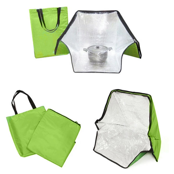 Green Portable Solar Oven Bag Cooker Sun Outdoor Camping Travel Emergency Tool for Cooking Solar Oven Bag Mayitr
